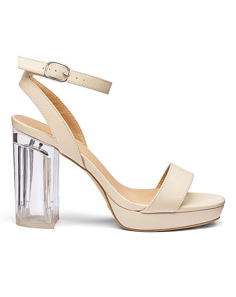 Simply Be Louise Perspex Heel E Fit