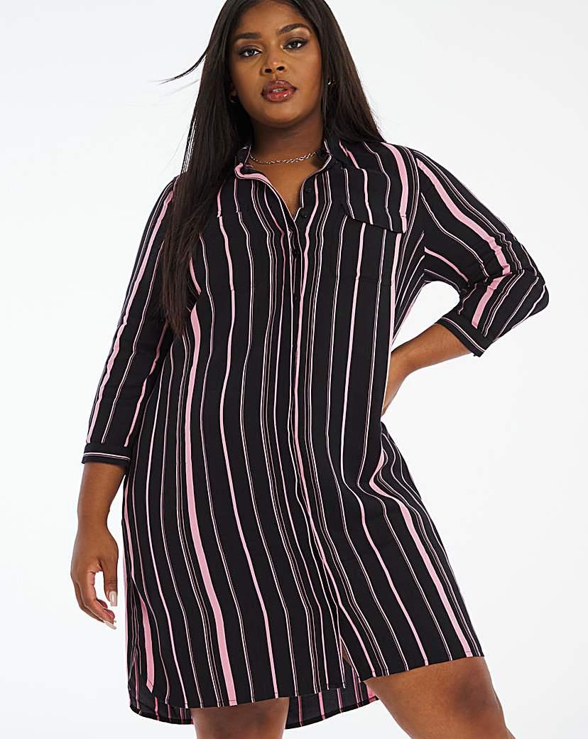 Capsule Rose Stripe Shirt Dress