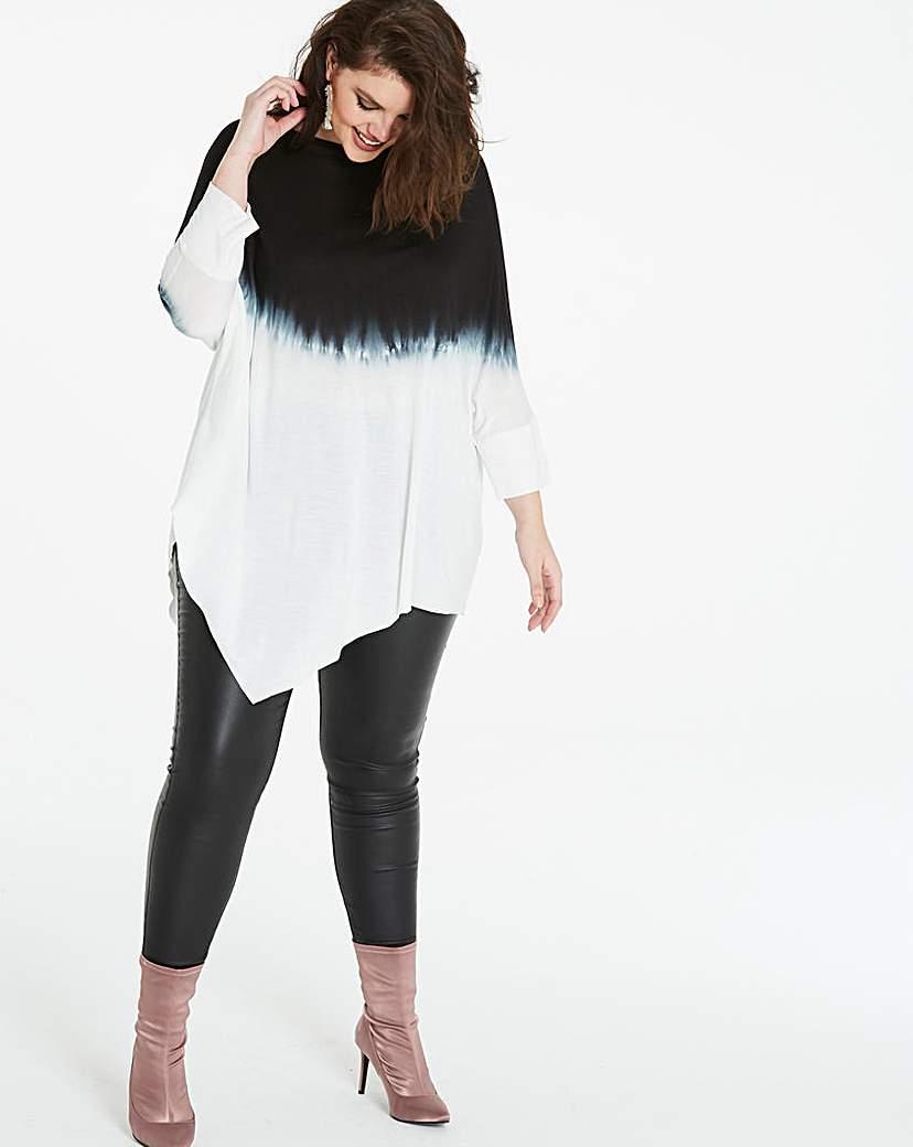 Simply Be Dip Dye Asymmetric Tunic