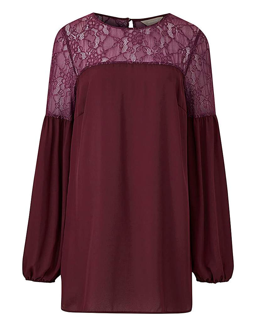 Berry Lace Detail Blouse