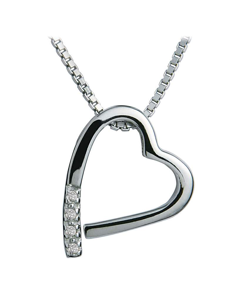 Image of  			   			  			   			  Hot Diamonds Heart Pendant