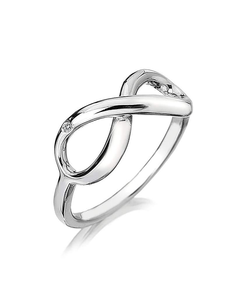 Image of Hot Diamonds Infinity Ring