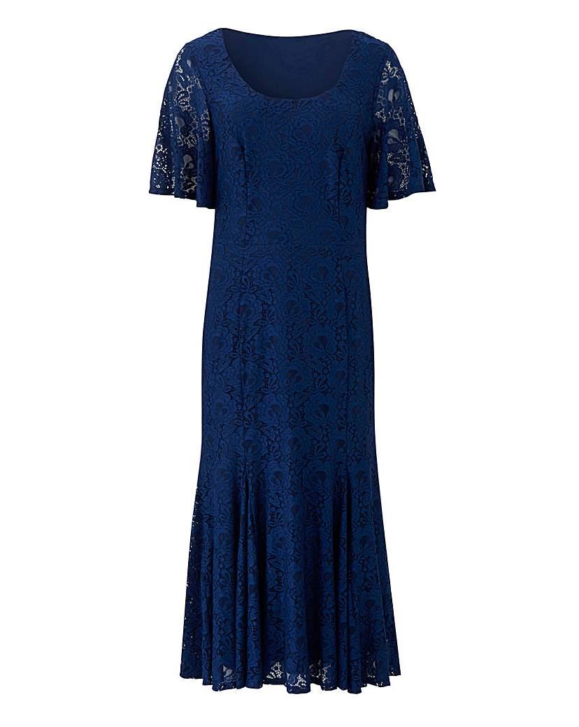 Joanna Hope Joanna Hope Navy Lace Midi Dress