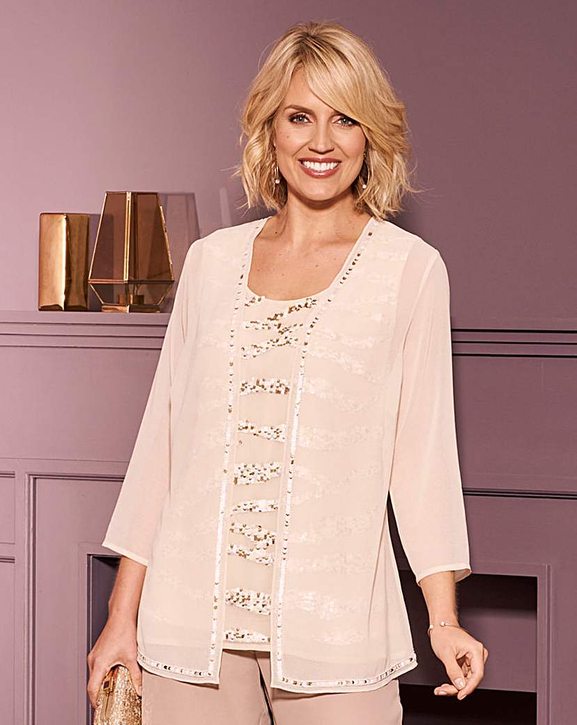 Nightingales Champagne Blouse and Jacket