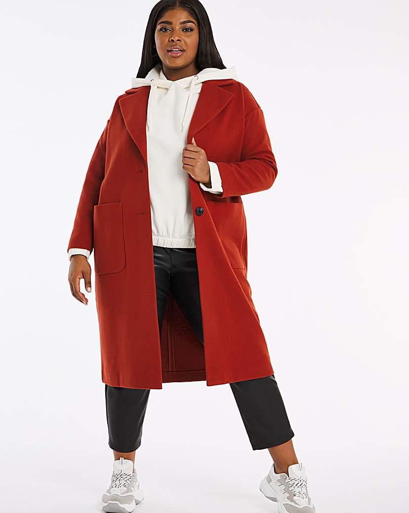Capsule Rust Longline Single Breasted Coat