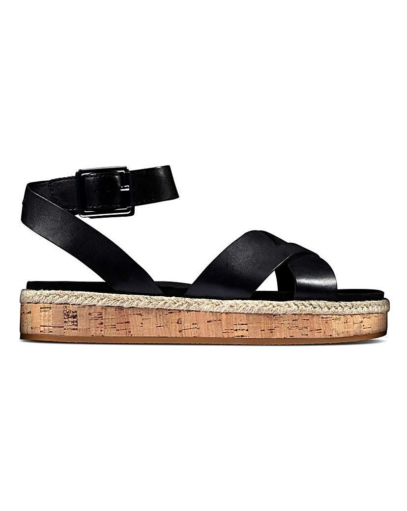 Clarks Clarks Ankle Strap Flat Sandals D Fit