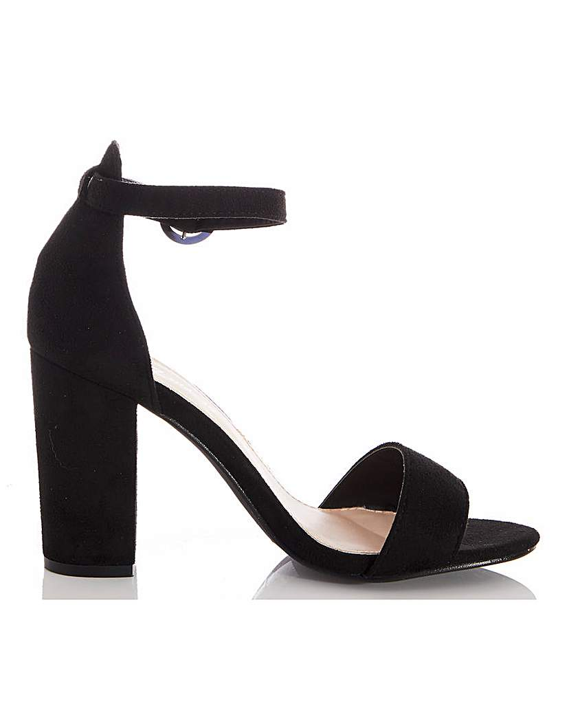 Quiz Quiz Block Heel Barely There Sandals