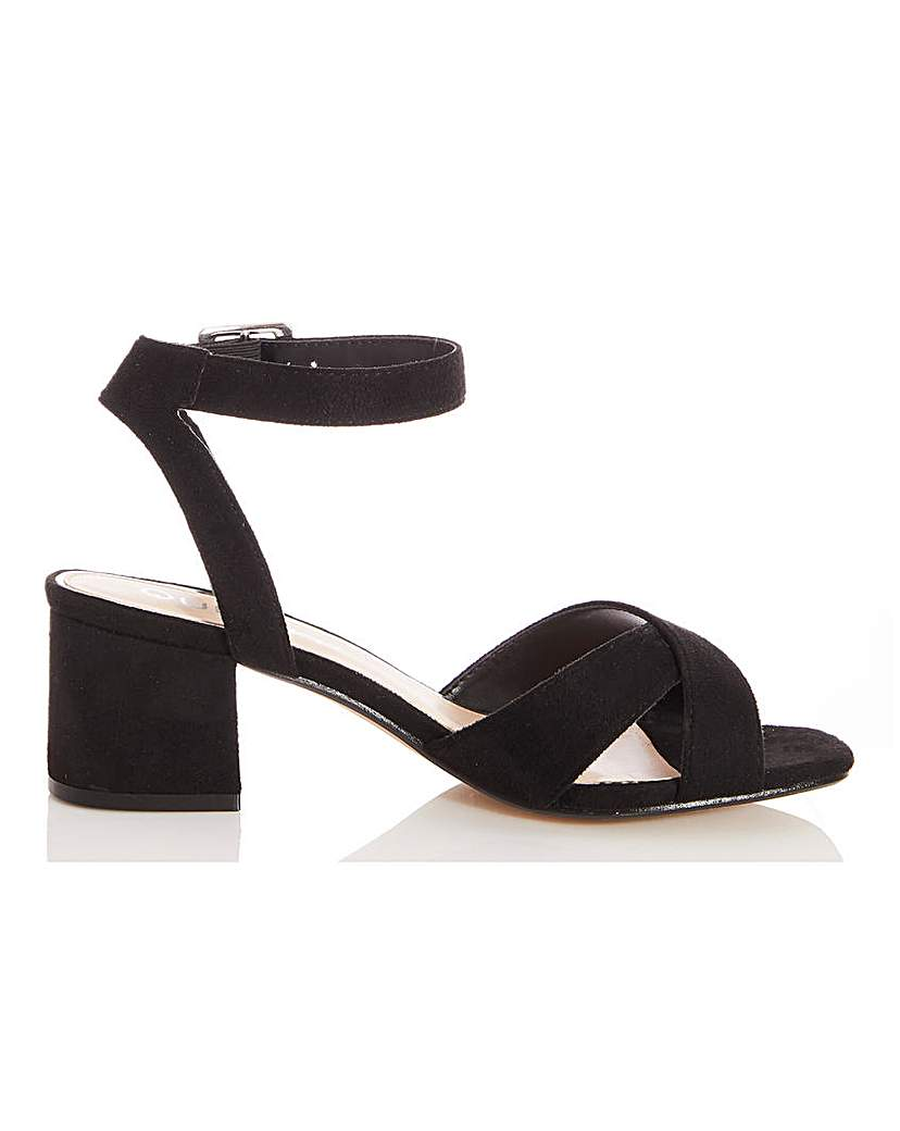 Quiz Quiz Block Heel Ankle Strap Sandals