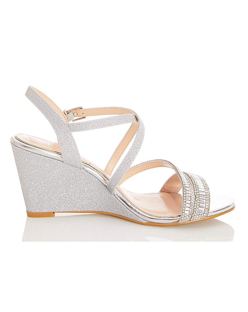 Quiz Quiz Wrap Around Wedge Sandals