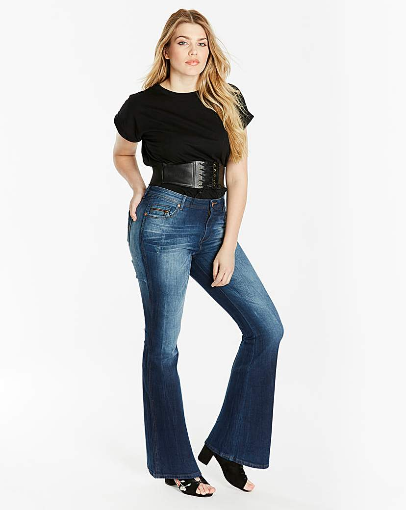 Simply Be Eve Authentic Bootcut Jeans Short