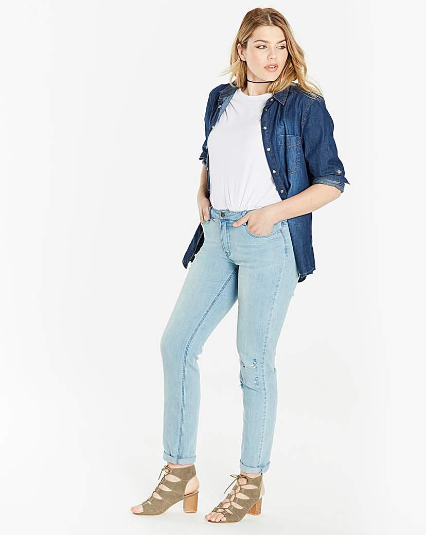 Simply Be Jade Supersoft Boyfriend Jeans Regular