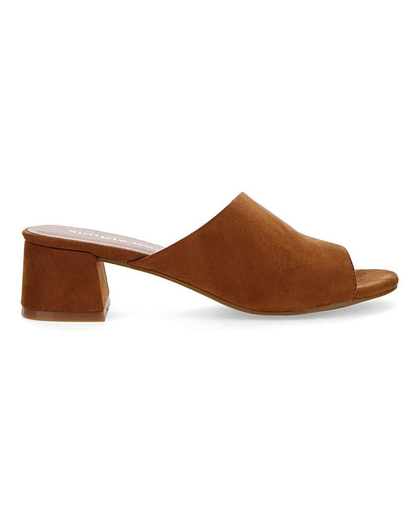 Simply Be Melinda Mule Block Heel Wide Fit
