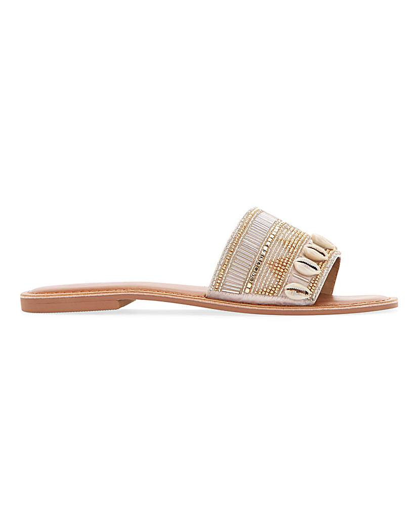 Simply Be Rico Beaded Mule Sandals Wide Fit