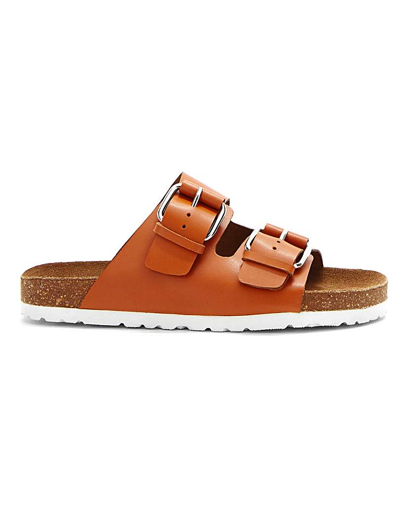 Simply Be Rhodes Leather Footbed Wide Fit