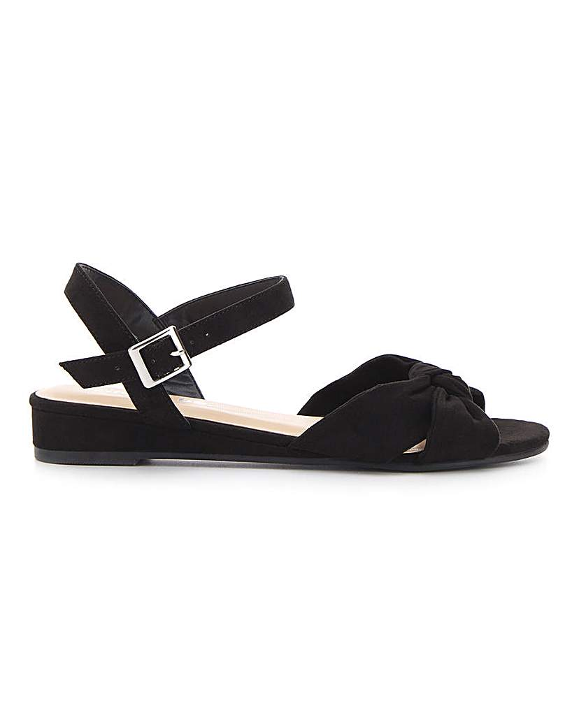 Simply Be Boston Knotted Wedge Extra Wide Fit