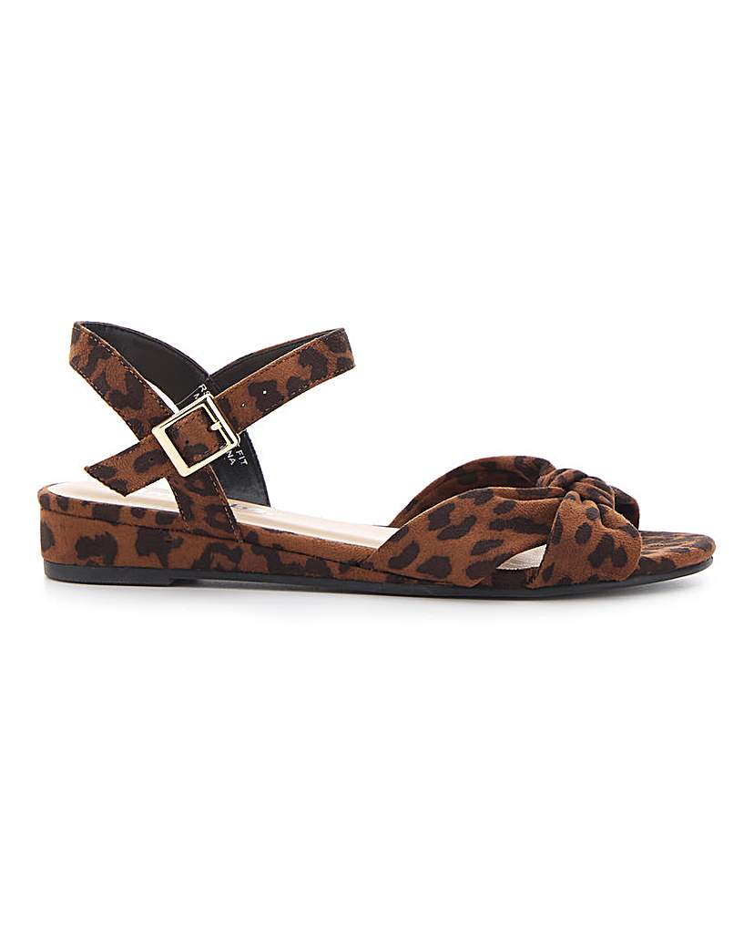 Simply Be Boston Knotted Wedge Wide Fit