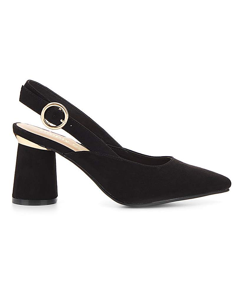 Simply Be Otho Slingback Detail Courts Wide Fit