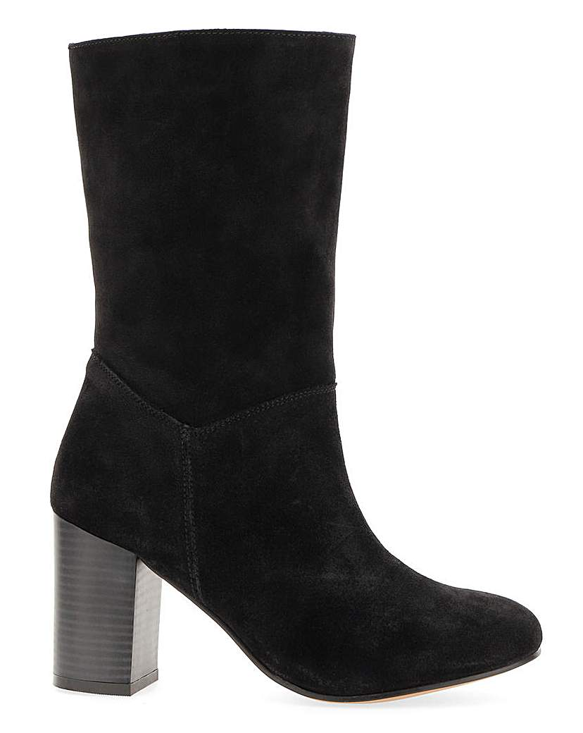 Simply Be Gardenia Suede Slouch Boot Extra Wide