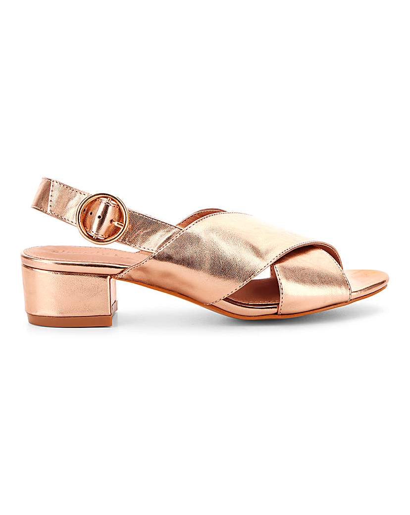 Simply Be Houston Cross Front Sandals Wide Fit