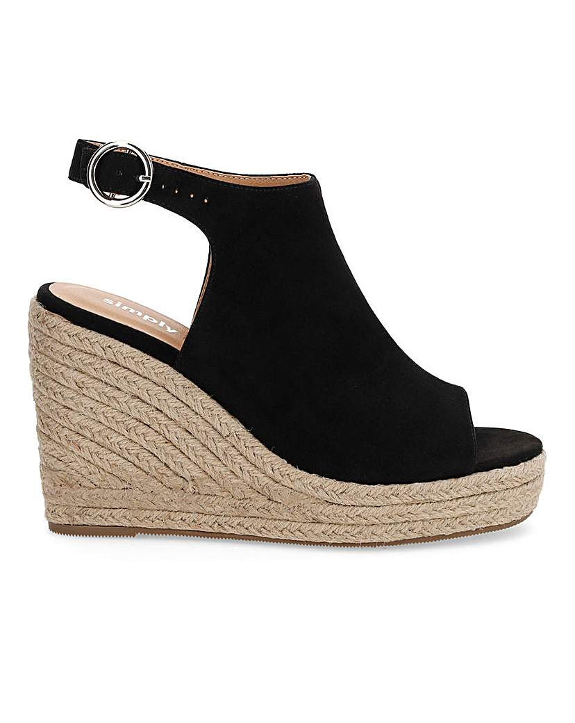 Simply Be Peru Espadrille Wedge Extra Wide Fit