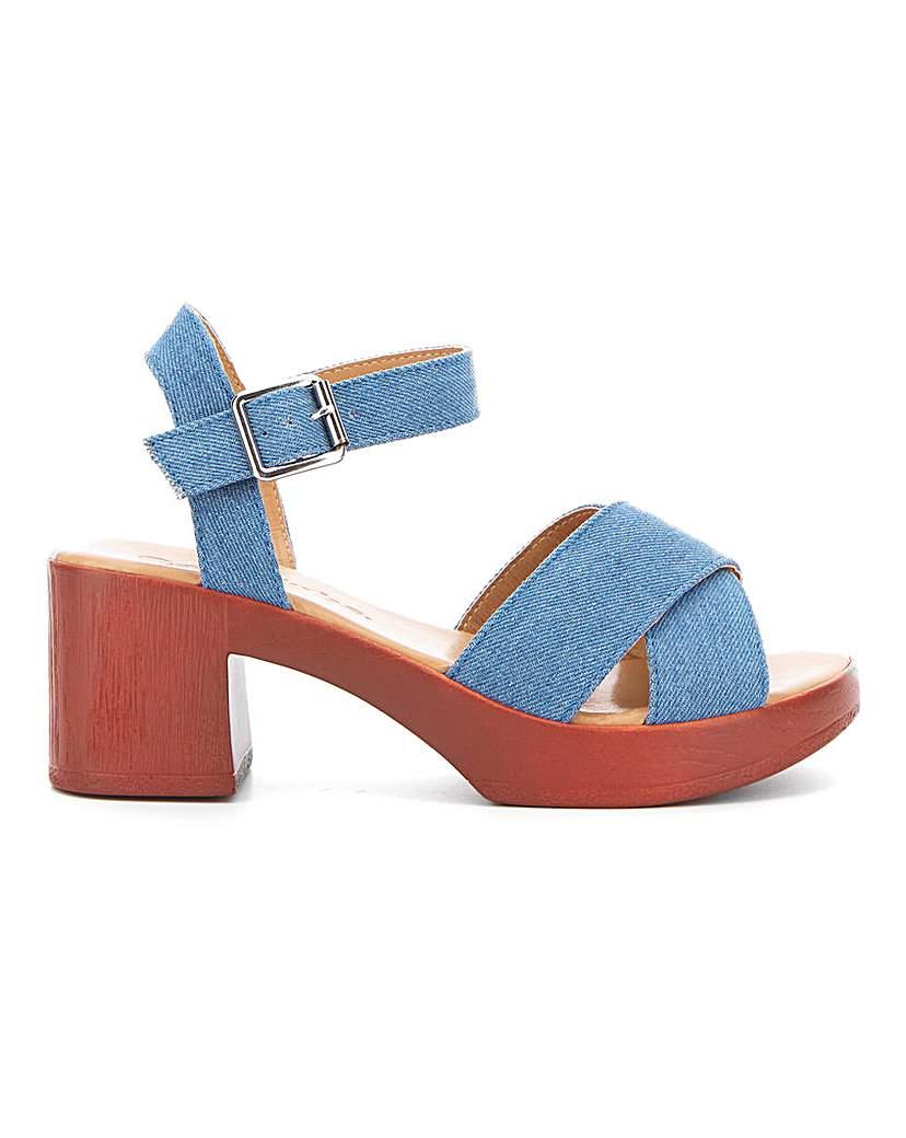 Simply Be Liza Block Heel Sandal Wide Fit