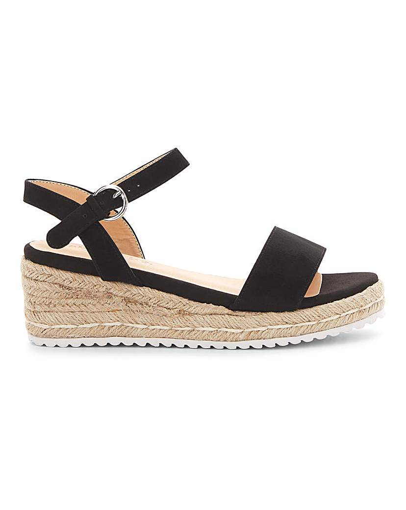 Simply Be Oregon Espadrille Wedge Extra Wide Fit