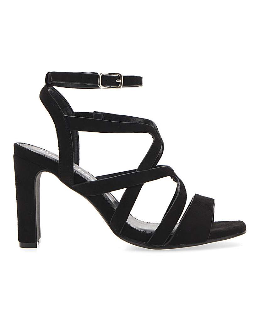 Simply Be Geneva Cage Sandals Wide Fit