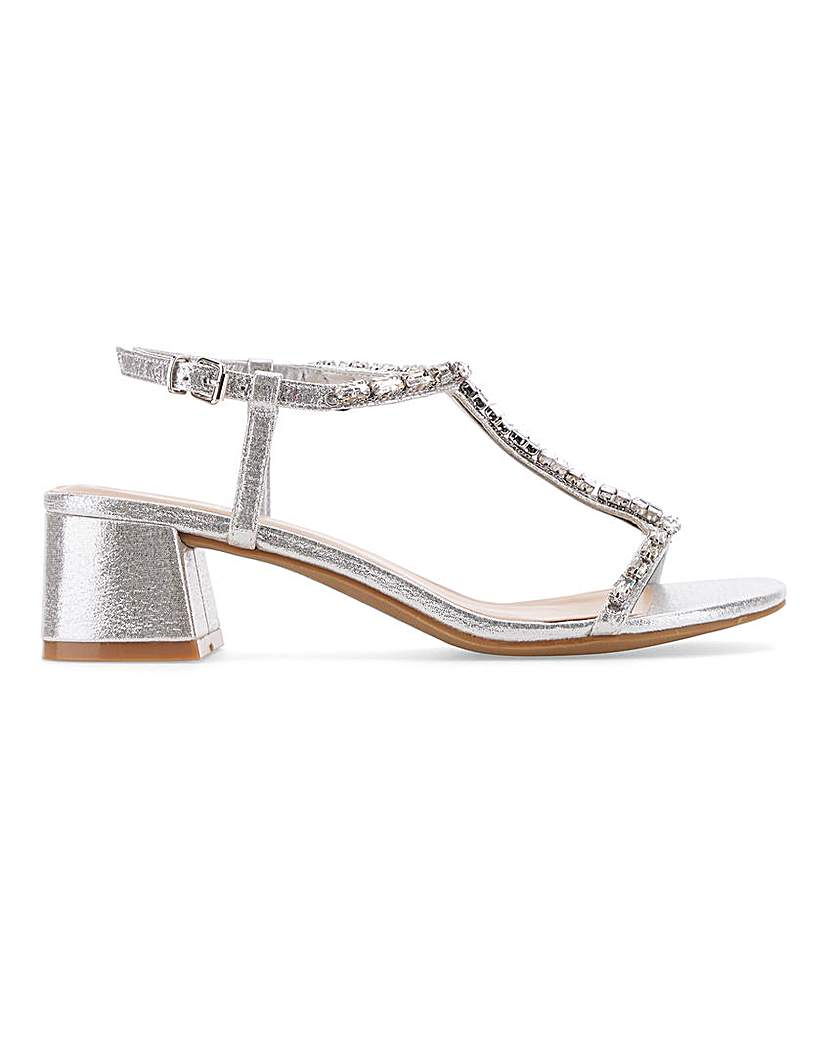 Simply Be Chicago T-Bar Block Heels Wide Fit