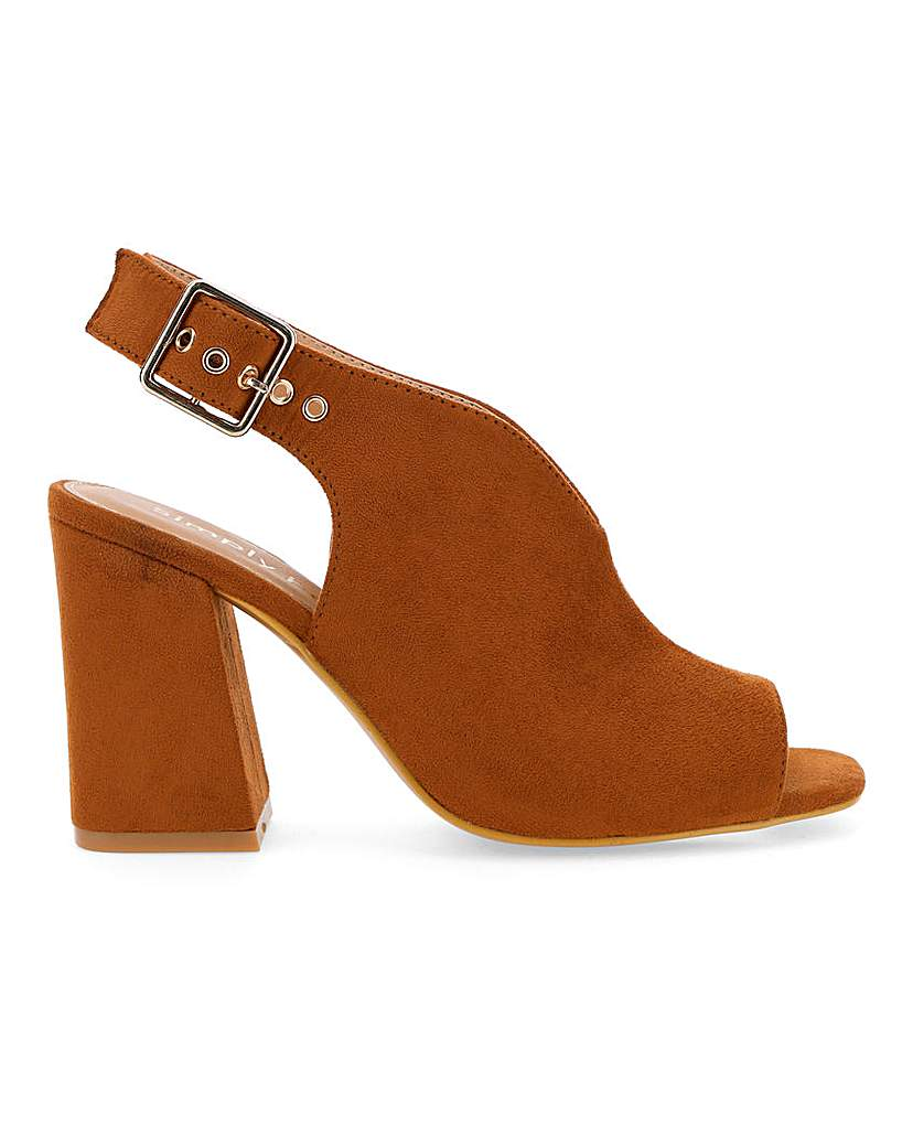 Simply Be Austin Slingback Shoeboot Wide Fit