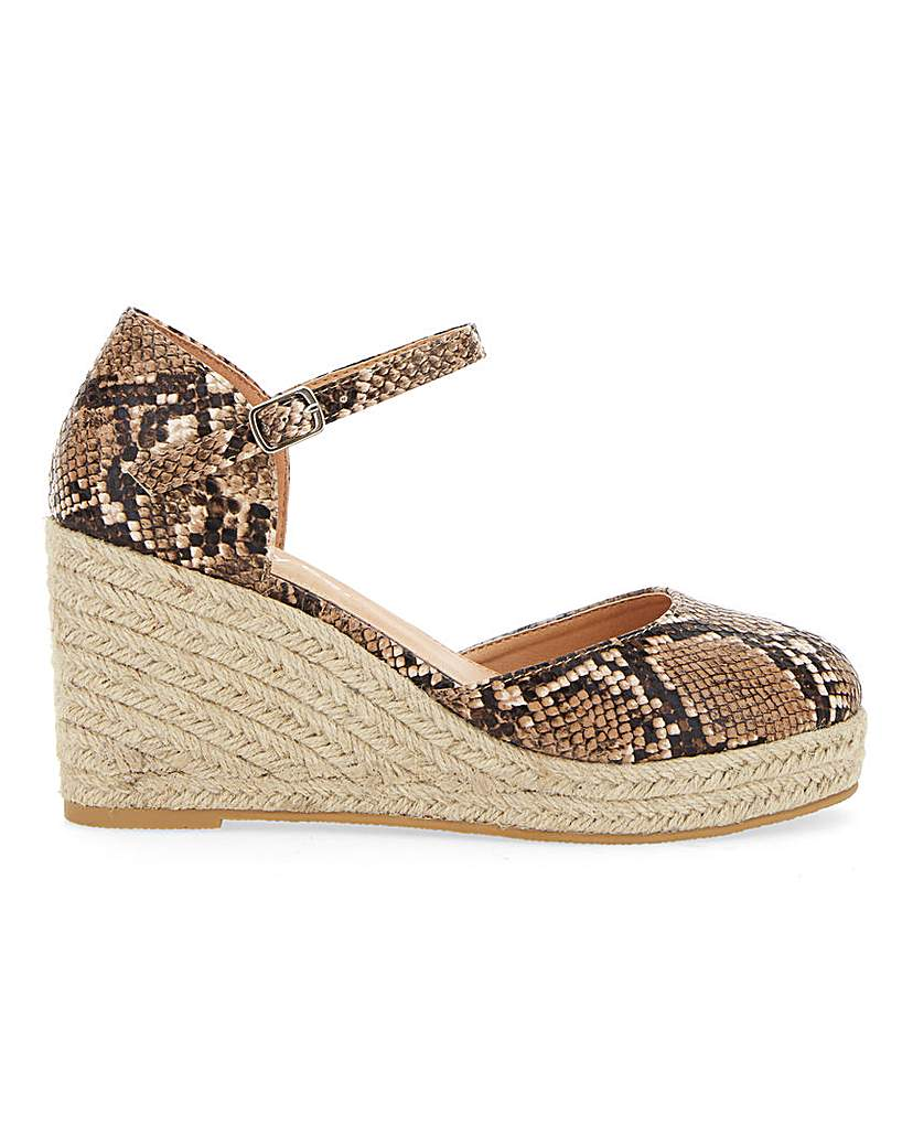 Simply Be Nerva Espadrille Court Wedge Extra Wide