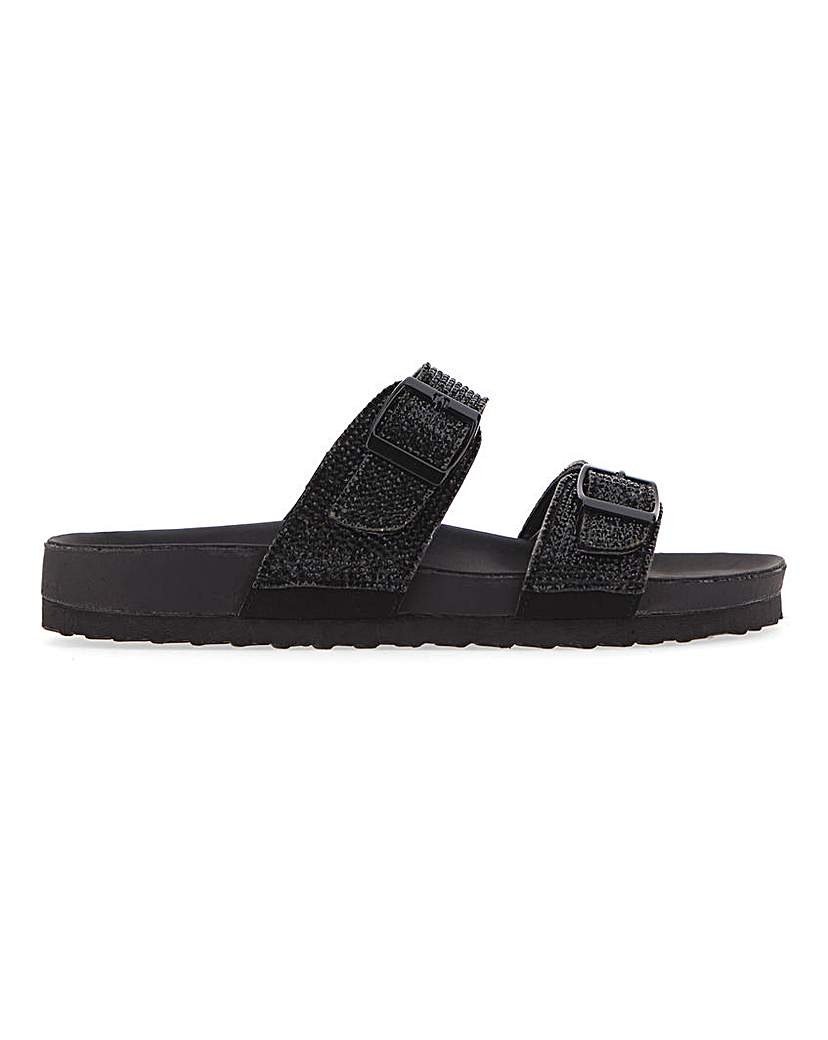 Simply Be Melbourne Diamante Footbed Wide Fit