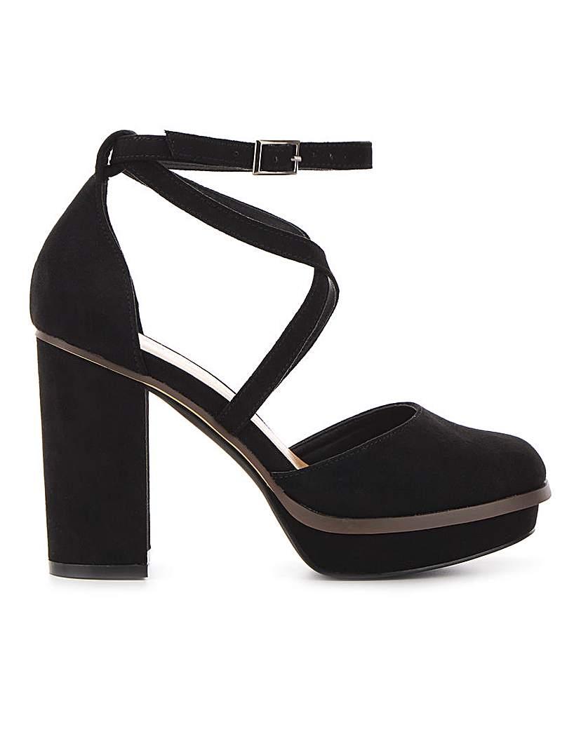 Simply Be Bellona Platform Heels Wide Fit