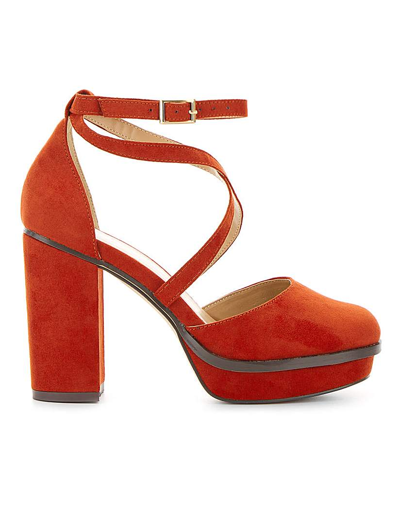 Simply Be Bellona Platform Heels Extra Wide Fit