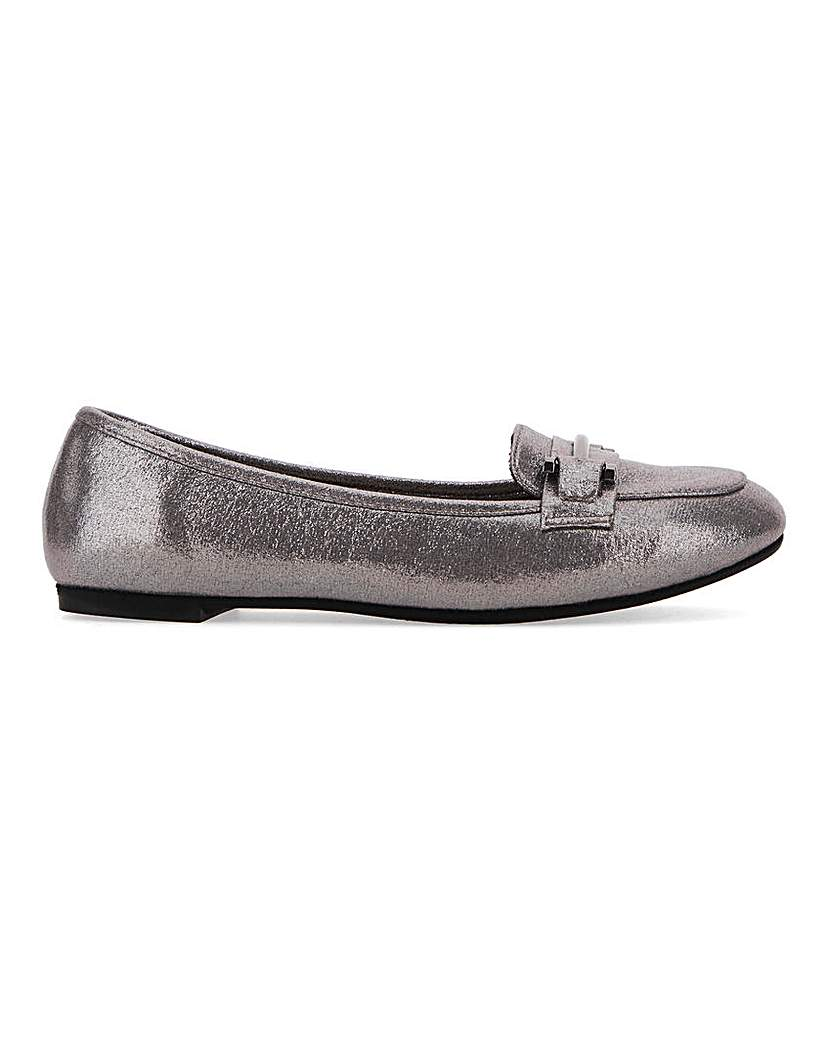 Simply Be Tyche Metal Trim Loafer Extra Wide Fit