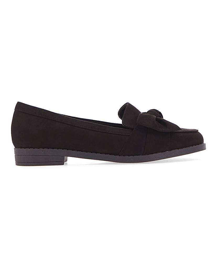Simply Be Zeno Twist Front Loafer Extra Wide Fit