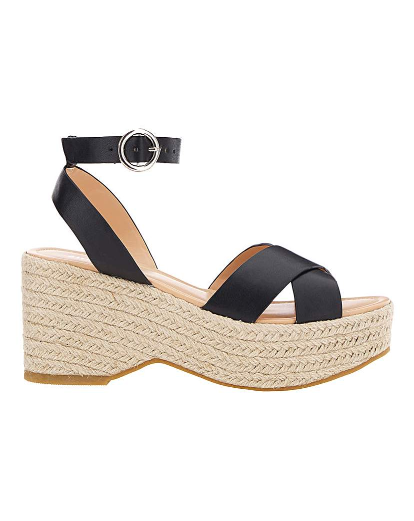 Simply Be Tuscany Espadrille Wedge Wide Fit