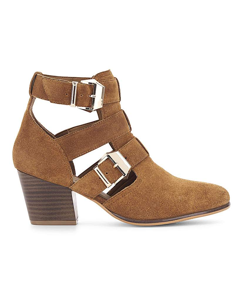 Simply Be Fern Leather Ankle Boot Extra Wide Fit