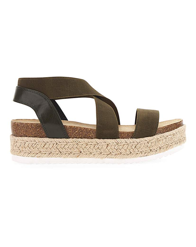 Simply Be Delaware Elastic Flatform Extra Wide Fit