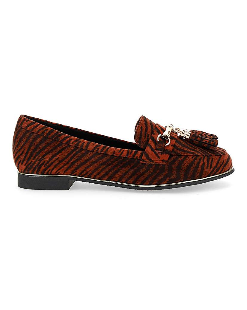 Simply Be Valens Tassel Loafer Wide Fit