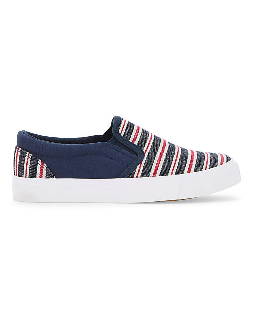 Simply Be Kristina Slip On Extra Wide Fit