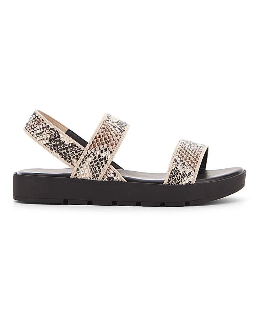 Simply Be Irving Elastic Chunky Sandal Wide Fit