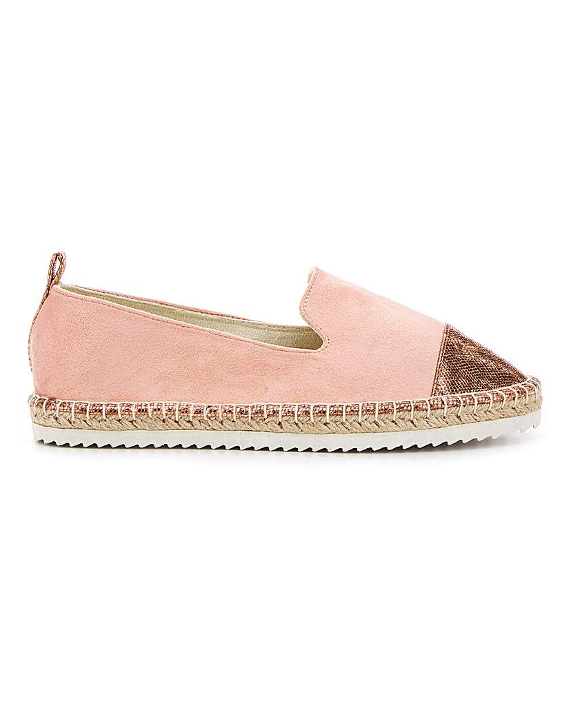 Simply Be Minnie Toecap Espadrille Wide Fit