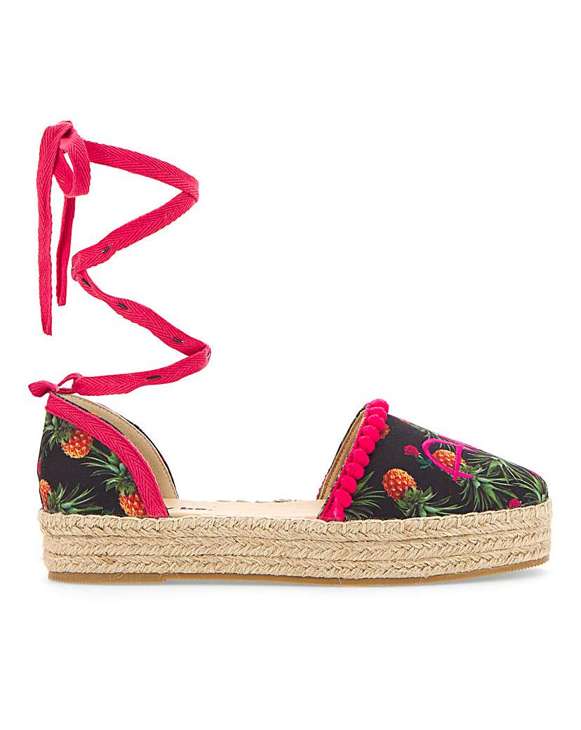 Simply Be Aloha Beaches Espadrille Extra Wide