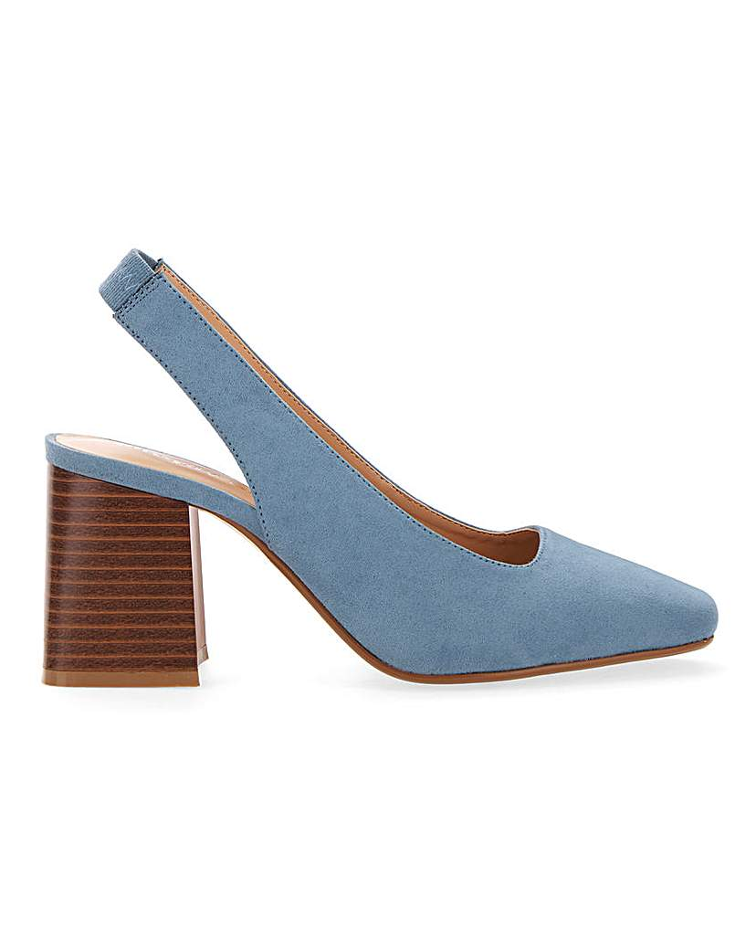 Simply Be Lexis Block Heel Slingback Extra Wide