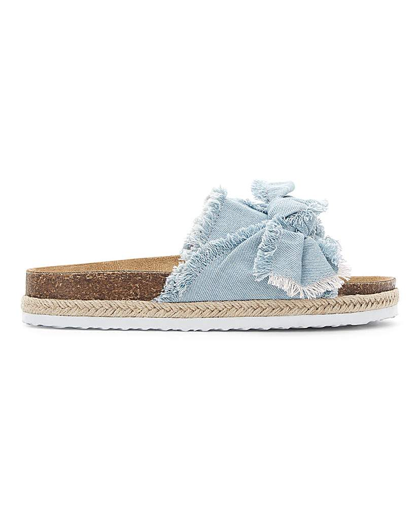 Simply Be Detroit Bow Flatform Mule Extra Wide