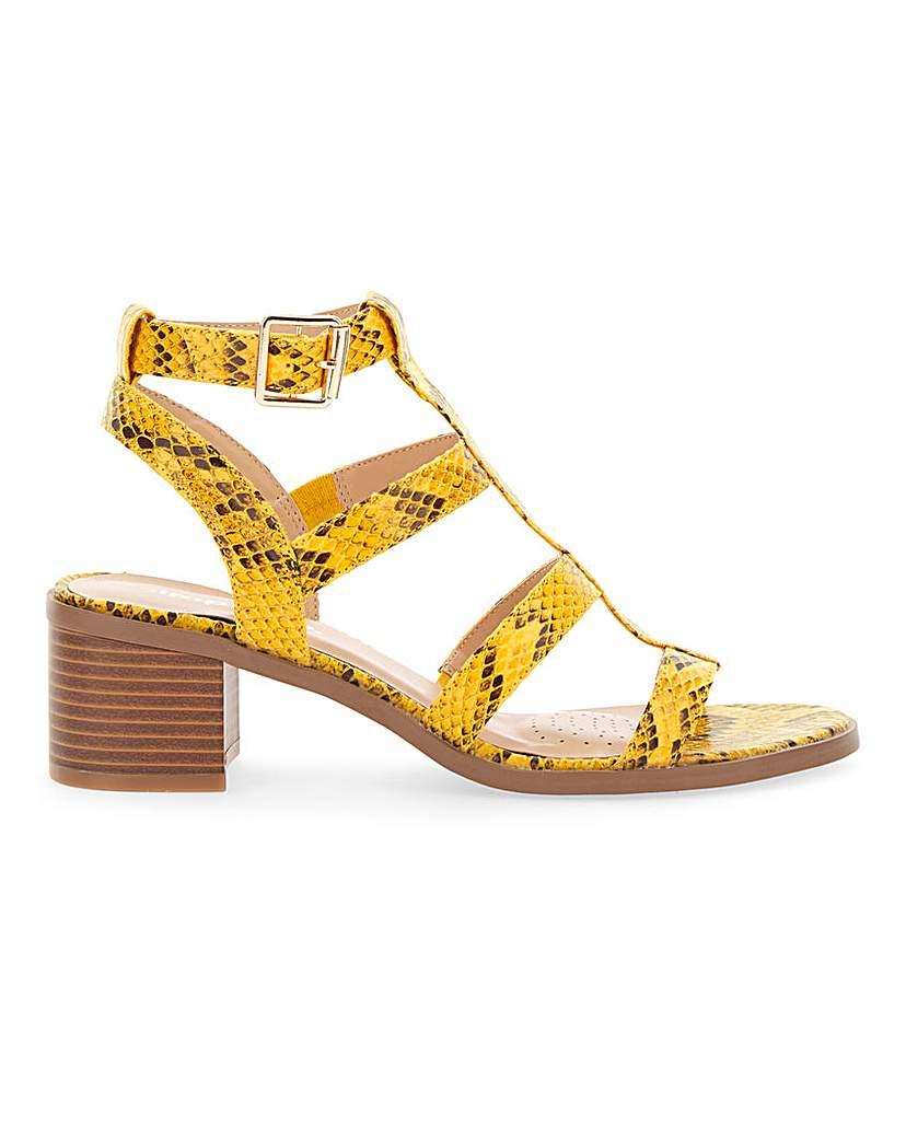 Simply Be Vegas Gladiator Block Heel Extra Wide
