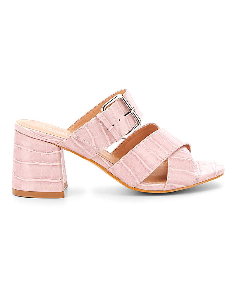 Simply Be Antonio Multi Strap Mule Extra Wide Fit