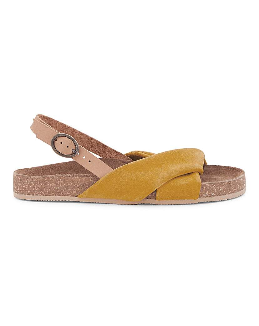 Simply Be Bermuda Twist Leather Footbed Wide Fit