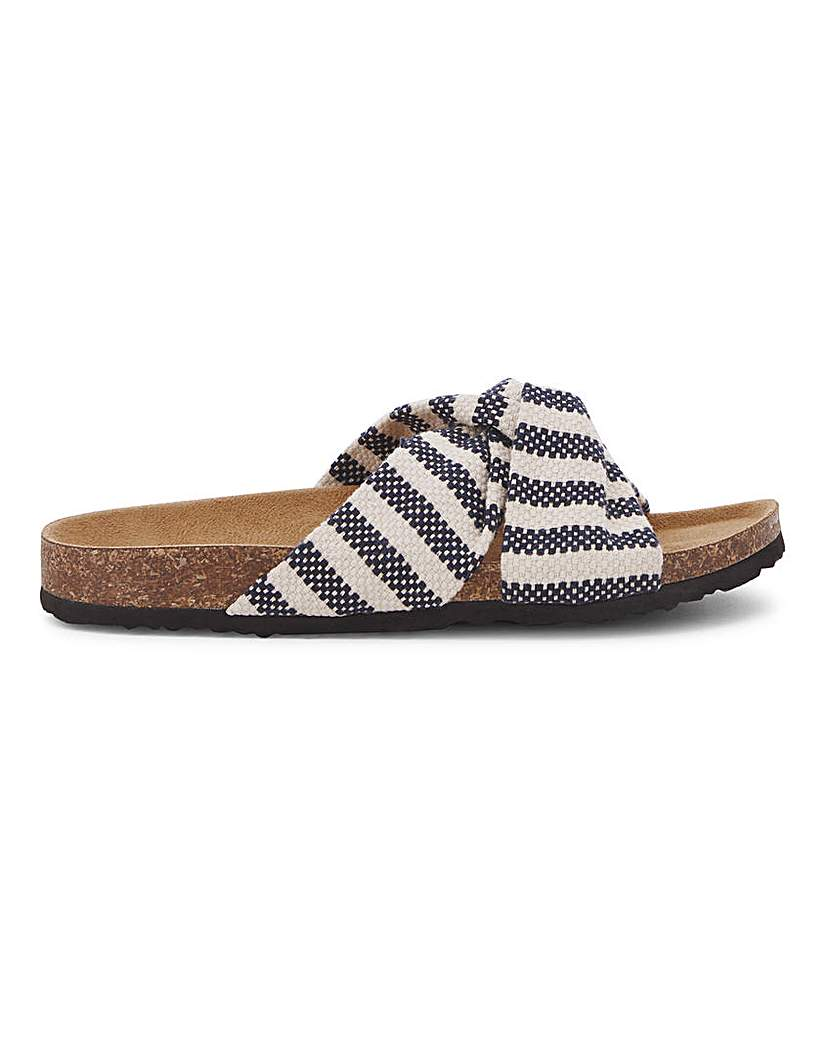 Simply Be Jose Twist Front Sandal Extra Wide Fit