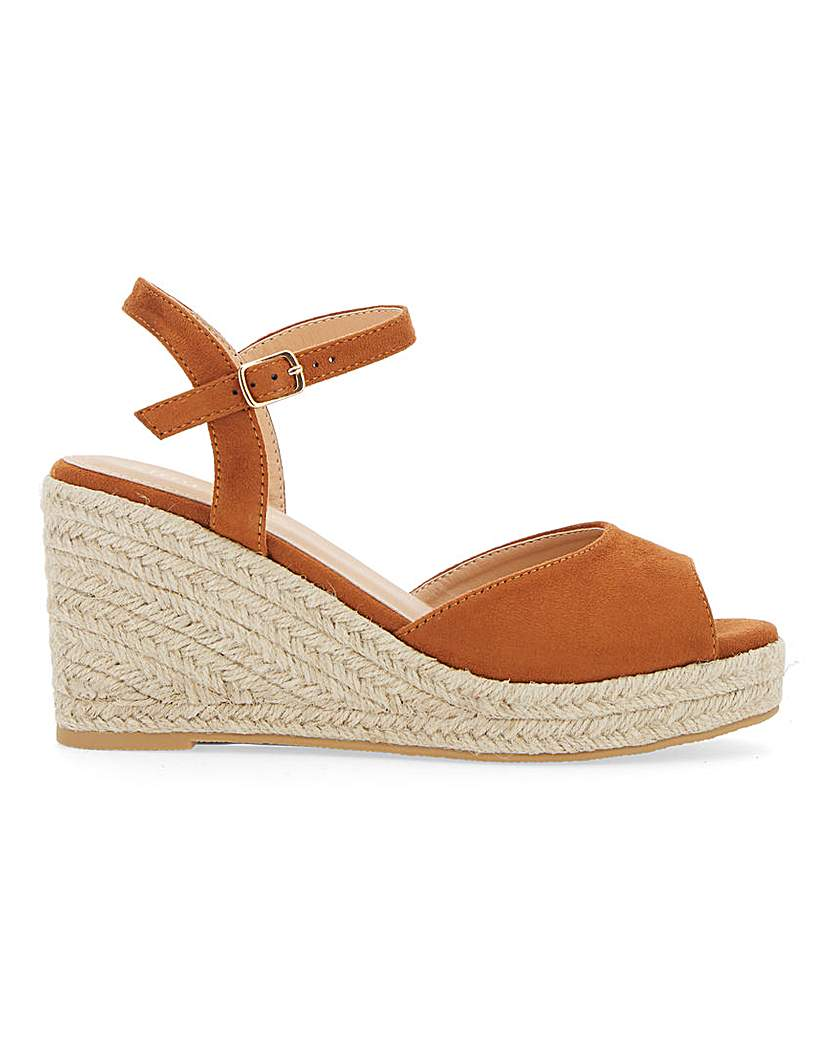 Simply Be Dree Espadrille Wedge Wide Fit